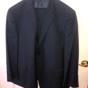 navy full suit